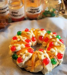 Twelfth Night, Epiphany and Delicious Bread! King Cake Rosca de Reyes (Recipe) - Lavender and Lovage Italian Panettone, King Cake Recipe, Three Kings Cake Recipe, Festive Bread, French Brioche, Twelfth Night, Soda Bread, Epiphany, Food Festival