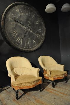 pair of napoleon 3 armchairs Espace Nord Ouest
