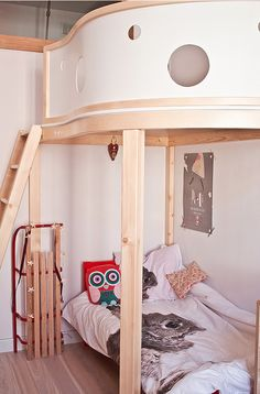 Amazing And Modern Kids Room Design From Poland Dream Bedroom, Home Bedroom, Kids Bedroom, Bedrooms, Unique Bed Frames, Toddler And Baby Room, Cool Beds For Kids, Deco Kids, Modern Kids