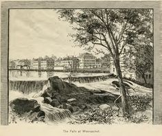 The Falls at Woonsocket, an 1870's view, on One Rhode Island Family genealogy blog