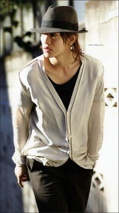 Japanese actor Sato Takeru. #streetstyle