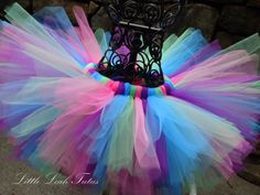 Birthday Bash Tutu - Purple, Hot Pink, Lime Green, and Turquoise - (sizes Newborn to 4T) Baby Tutu, Girls Tutu Skirt, Photography Prop