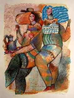 La Rue est un Monde 1985 by Theo Tobiasse, Limited Edition Print, Lithograph and Carborundum