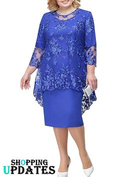 Mother Of The Bride Dresses With Jacket Plus Size Wedding Party Gown Scoop Neck Half Sleeve robe mere de la mariee 2019 Mother Of The Bride Dresses Long, Mother Of Bride Outfits, Mothers Dresses, Mother Bride Dress, Mother Of The Bride Fashion, Mother Of The Bride Plus Size, Women's A Line Dresses, Knee Length Dresses, Lace Dresses