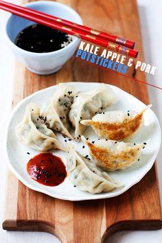 Kale, Apple, & Pork Potstickers