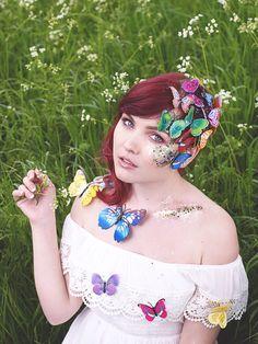 Paige Joanna | Fashion, Lifestyle, Art and London Blogger: Go Get Glitter Photo Shoot #art #artmakeup #makeup #butterflies #glitter