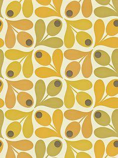 Buy in Australia Orla Kiely decorative Multi Acron wallpaper. A very retro geometric design. Colour:- Saffron Wallpaper type:- Non-woven x Roll Vertical Pattern Repeat (cm):- Match:- Straight Spotted Wallpaper, Harlequin Wallpaper, Retro Wallpaper, Pattern Wallpaper, 60s Patterns, Pretty Patterns, Textile Patterns, Vintage Patterns, Textiles