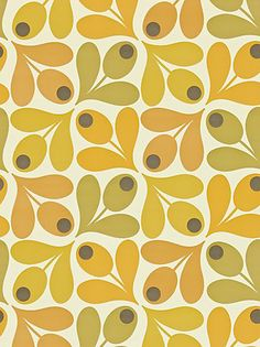 Buy Orla Kiely House for Harlequin Acorn Spot Wallpaper, Orange, 110419 online at JohnLewis.com - John Lewis