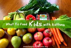 What To Feed Kids With Asthma - a meal plan using anti-inflammatory foods. Great to have this resource on hand during asthma flare-ups!
