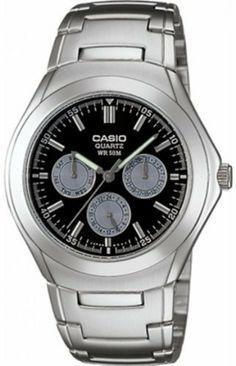 Casio Men's Multifunction watch #MTP-1247D-1AV Casio. $32.99. 50 Meters / 165 Feet / 5 ATM Water Resistant. Quartz Movement. Mineral Crystal. 40mm Case Diameter