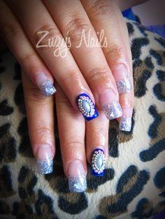 Zuzy's Nails: Más hermosos diseños de uñas Acrylic nails, nail art, nail polish, uñas decoradas, arte en uñas, uñas bellas, manicure, diseño con esmaltes y acrilico con glitter