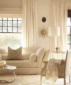 White on White | Patterns, prints, colors, and textures come together to create the ultimate livable space.