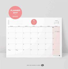 Calendário 2017 para baixar, imprimir gratuitamente - download free - Não me Mande Flores
