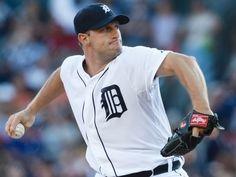 Detroit Tigers | Detroit Tigers starting pitcher Max Scherzer pitches in the first ...