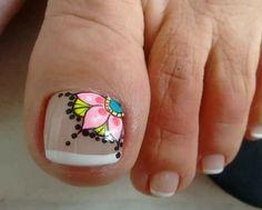 Creative Nail Designs, Toe Nail Designs, Nail Polish Designs, Pedicure Nail Art, Toe Nail Art, Manicure And Pedicure, Mandala Nails, Glow Nails, Cute Toe Nails