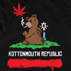 Kottonmouth Republic California Bear Flag Style Logo T Shirt from Kottonmouth Kings | Bear Flag Museum  http://bearflagmuseum.blogspot.com/2013/06/kottonmouth-republic-california-bear.html