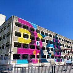 Photo by Ivy Arch (@ivyarch) | #GraftonCarPark makeover @ECEArchitecture #colourful #Brutalist #Worthing