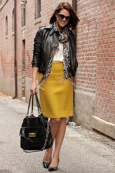 I could do this...skirt, check, jacket, check, scarf, ditto...accessories, can do!