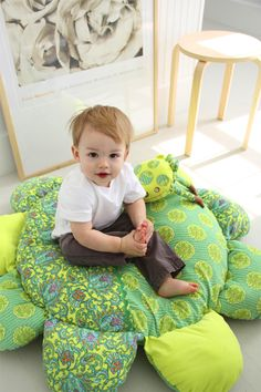 Amy Butler's Soul Blossoms Fabrics with Little Daisy's Big Nap Pillow (Sewing pattern available)