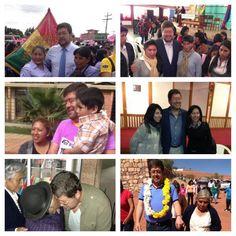 En diferentes actividades junto a familias, jóvenes y mujeres de todo el país.