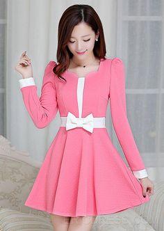 vestidos coreanos cortos de moda