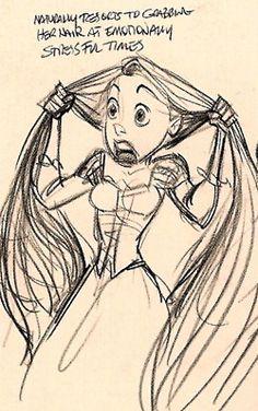 Tangled - Rapunzel notes - Glen Keane