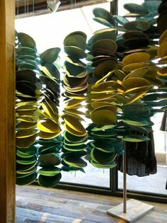 Anthropologie Display - painted paper plates