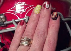 Love these designs!  Softball field tested and approved :-)  #nailart #softball #catcher #nailartstudio #jamberrynails  www.LoveTheNails.com