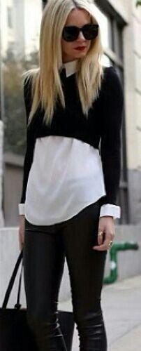 Cropped top + dress shirt