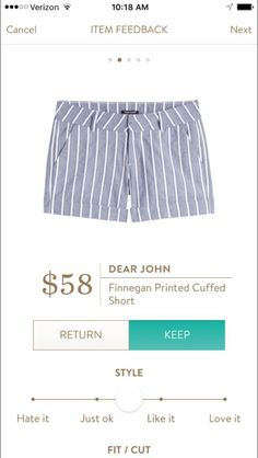 Cute! Finnegan printed cuff short