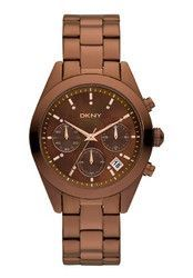 DKNY Women's Brown Stainless-Steel
