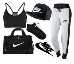 """""""NIKE"""" by neilaninewsome ❤ liked on Polyvore featuring moda, NIKE, women's clothing, women, female, woman, misses y juniors"""