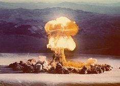 Photo gallery of nuclear tests including underground and atmospheric nuclear tests. Related photos, site preparation and equipment. Bomba Nuclear, Nuclear Test, Nuclear Bomb, Nuclear Energy, Hiroshima, Mushroom Cloud, Nuclear Disasters, Destroyer Of Worlds, Fallout New Vegas