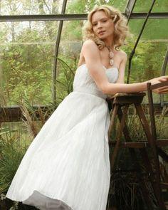 Tea-Length Silk Organza Dress | Martha Stewart Weddings