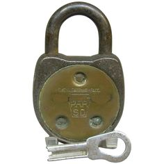 Vintage Adlake Pcrr Penn Central Railroad Switch Lock And