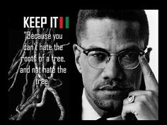 You Can't Hate the Roots Of A Tree, Malcolm X |Multimedia with Downloads