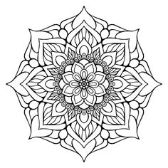 Illustration about Ornament beautiful card with mandala. Geometric circle element made in vector. Illustration of magic, abstraction, decoration - 81215553 Free Adult Coloring Pages, Mandala Coloring Pages, Free Printable Coloring Pages, Coloring Book Pages, Mandalas Painting, Mandalas Drawing, Flower Mandala, Mandala Art, Indian Flowers