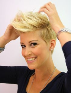 Best Ideas For Women's Short Haircuts : getting some lift in a pixie cut. I need to figure out how to get my hair to sta… Edgy Short Haircuts, Short Hairstyles Fine, Undercut Hairstyles, Cool Hairstyles, Pinterest Hairstyles, Pixie Hairstyles, Long To Short Hair, Short Hair Cuts For Women, Short Hair Styles