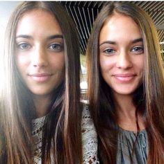 Twin Girls, Hot Girls, Beautiful Children, Beautiful Women, Girls Together, Bff Pictures, Best Friend Goals, Naturally Beautiful, Woman Face
