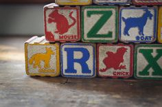 Antique Toy Blocks  21 Vintage Wooden Blocks  by TimberAndTwine, $24.00
