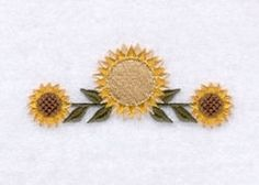 Folk Sunflower Line - 4x4 | Fall | Machine Embroidery Designs | SWAKembroidery.com Starbird Stock Designs