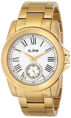 a_line Women's AL-80021-YG-22 Amare Analog Display Japanese Quartz Gold Watch -