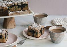 Blueberry Cardamom Coffee Cake: @acozykitchen