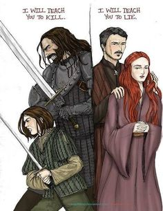 La diferencia entre Sansa y Arya. Sus profesores.