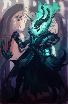 Thresh WIP by xluxifer.deviantart.com on @DeviantArt