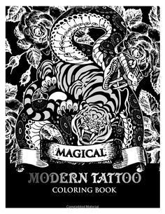 Amazon Modren Tattoo Coloring Book Modern And Neo Traditional Designs