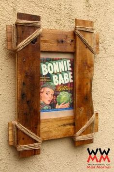 Rustic picture frame made from pallet wood. by MarySeh
