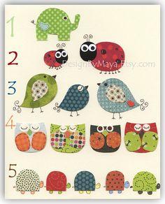 Nursery wall art print Baby Room Decor Birds by DesignByMaya, $17.00