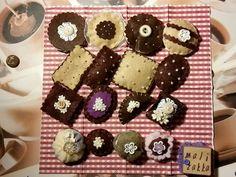 handmade felt cookies ~ yummy