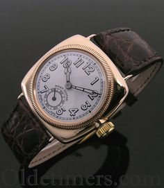 An early 9ct gold cushion vintage Rolex Oyster watch, 1928